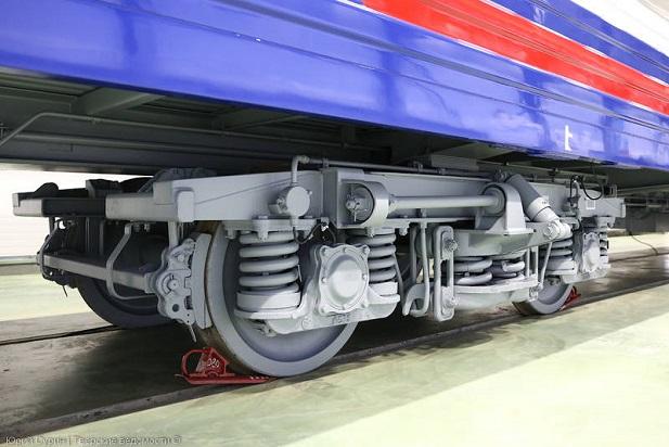 Современные тележки грузовых вагонов на картинках